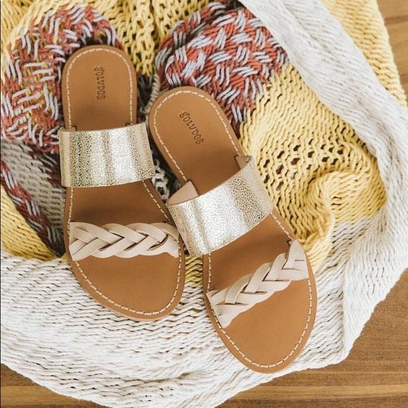 ffdea3590683 Soludos • New • Metallic Braided Slide Sandal